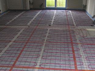 Pose du plancher chauffant électrique